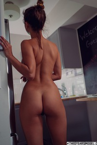 Dare Taylor Strips Nude At The Kitchen