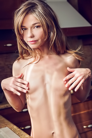 Nedda A - Excited hottie gets her best orgasms on the kitchen table